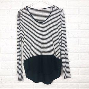 ZARA Collection striped long sleeve top